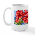 Red Hibiscus Large Mug