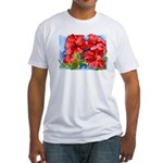 Red Hibiscus Fitted T-Shirt