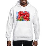 Red Hibiscus Hooded Sweatshirt