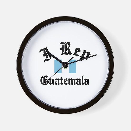 I rep Guatemala Wall Clock
