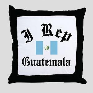 I rep Guatemala Throw Pillow