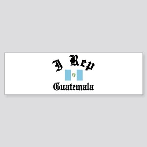I rep Guatemala Bumper Sticker