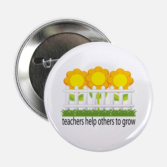 """Flower Garden Teacher 2.25"""" Button"""