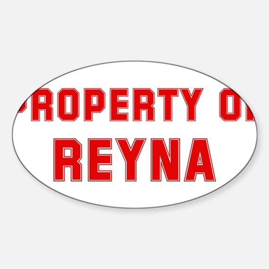 Property of REYNA Oval Decal