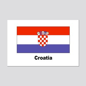 Croatia Croatian Flag Mini Poster Print
