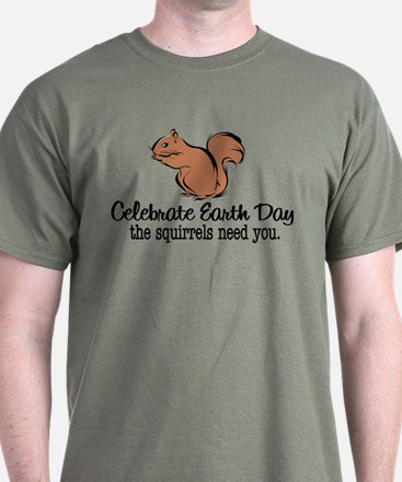Earth Day Squirrels T-Shirt
