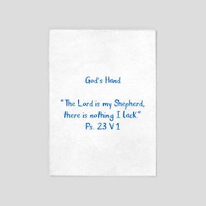 Lord is my Shepherd 5'x7'Area Rug