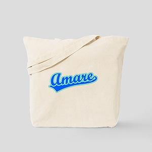 Retro Amare (Blue) Tote Bag