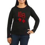 10d 8d Poker Women's Long Sleeve Dark T-Shirt