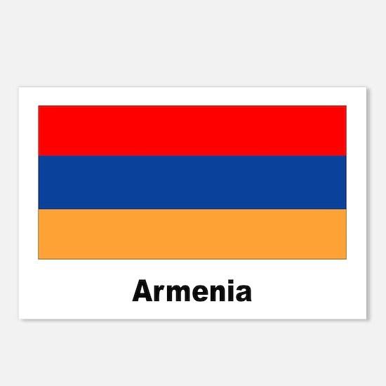 Armenia Armenian Flag Postcards (Package of 8)