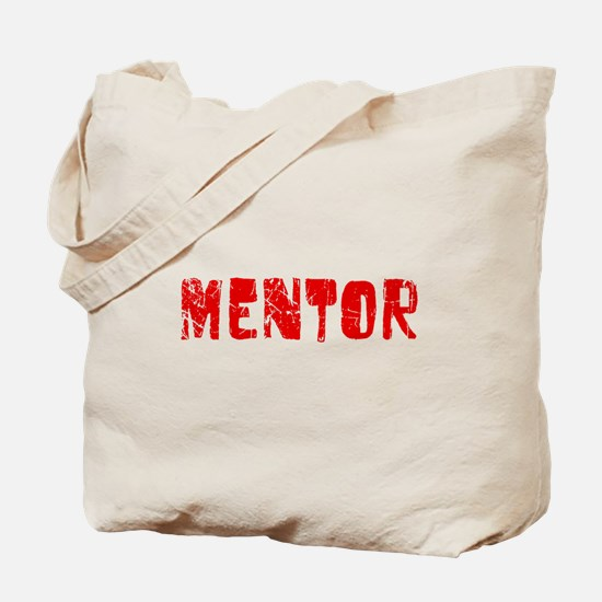 Mentor Faded (Red) Tote Bag