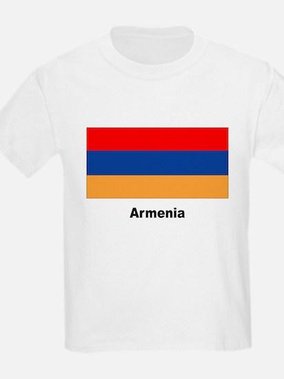 Armenia Armenian Flag (Front) Kids T-Shirt
