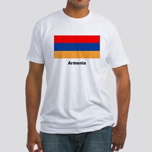 Armenia Armenian Flag (Front) Fitted T-Shirt