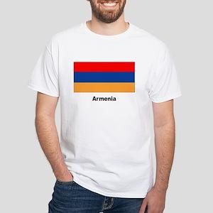Armenia Armenian Flag (Front) White T-Shirt