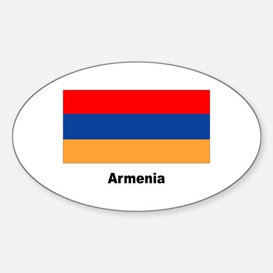 Armenia Armenian Flag Oval Decal