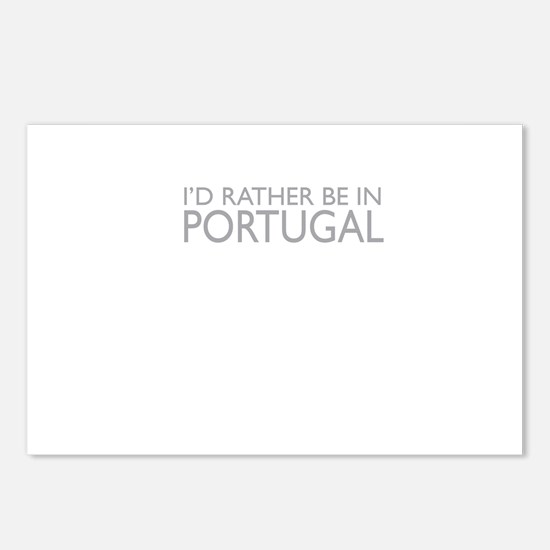 I'd rather be in Portugal Postcards (Package of 8)
