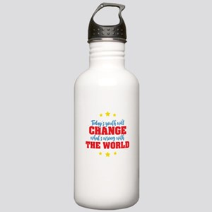Today's Youth / Change Stainless Water Bottle 1.0L