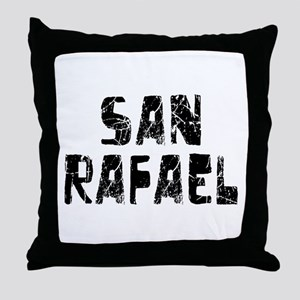 San Rafael Faded (Black) Throw Pillow