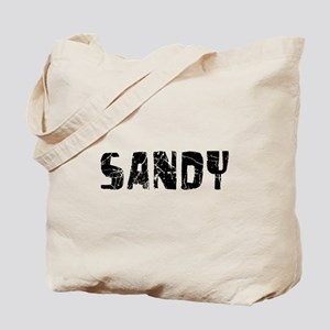 Sandy Faded (Black) Tote Bag