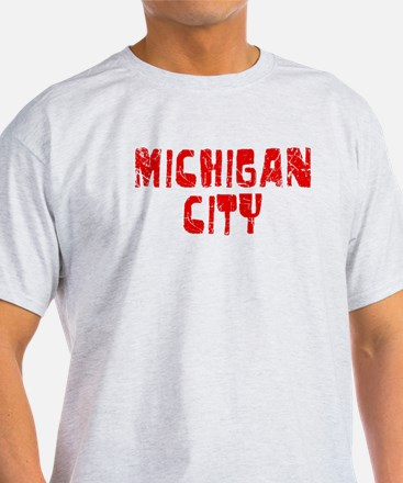 Michigan City Faded (Red) T-Shirt