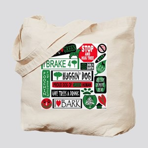 DOG'S STICKER DESIGN Tote Bag