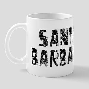 Santa Barbara Faded (Black) Mug
