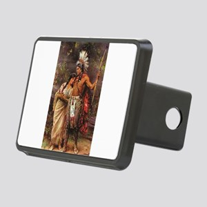 more man and woman joined Rectangular Hitch Cover