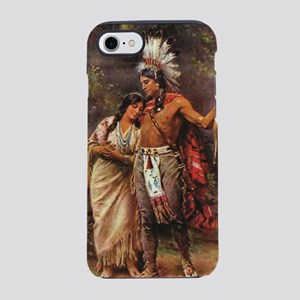 more man and woman joined iPhone 8/7 Tough Case