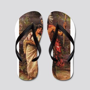 more man and woman joined Flip Flops