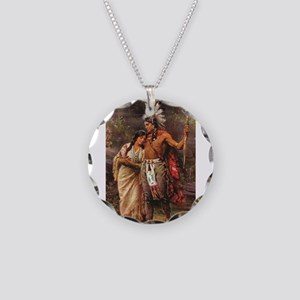 more man and woman joined Necklace Circle Charm