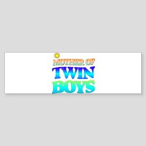 Twin boys mother Bumper Sticker