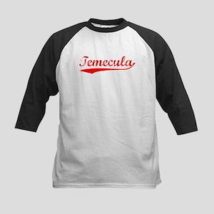 Vintage Temecula (Red) Kids Baseball Jersey