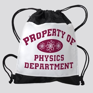 Property of Physics Department (red Drawstring Bag