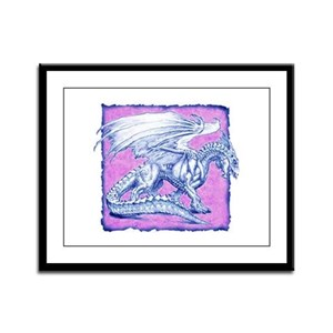 White Dragon 4 Framed Panel Print