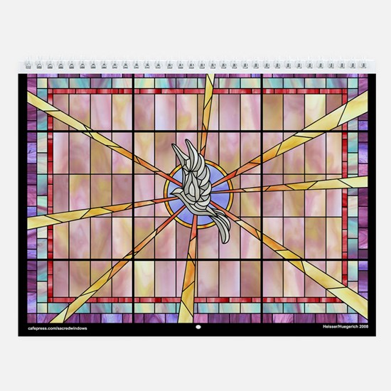 Stained Glass Wall Calendar