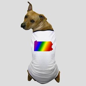 Pennsylvania Gay Pride Dog T-Shirt