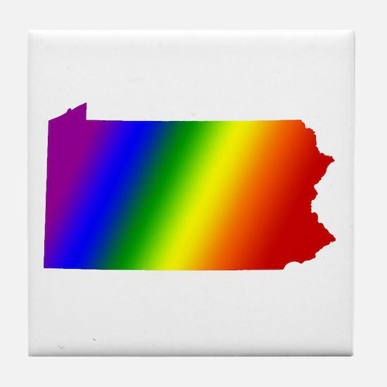 Pennsylvania Gay Pride Tile Coaster