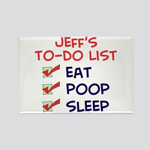 Jeff's To-Do List Rectangle Magnet