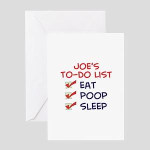 Joe's To-Do List Greeting Card