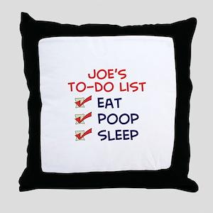 Joe's To-Do List Throw Pillow