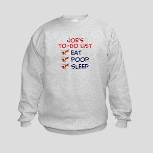 Joe's To-Do List Kids Sweatshirt