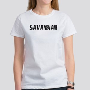 Savannah Faded (Black) Women's T-Shirt
