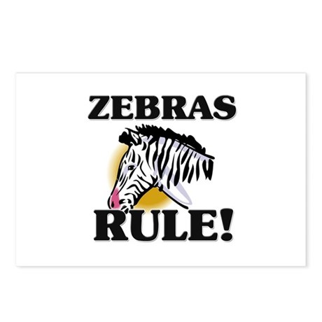 Zebras Rule! Postcards (Package of 8)