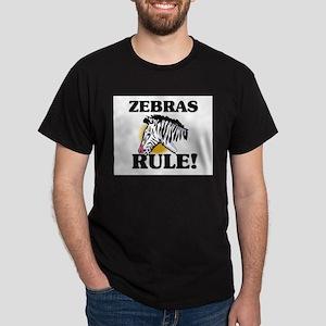 Zebras Rule! Dark T-Shirt