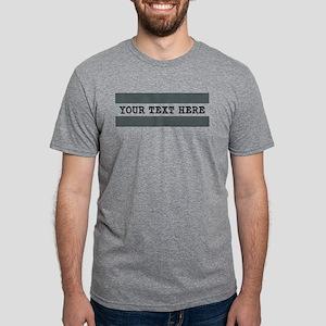 Personalized Gray Striped Mens Tri-blend T-Shirt