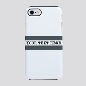 Personalized Gray Striped iPhone 8/7 Tough Case