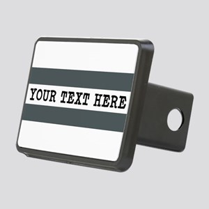 Personalized Gray Striped Rectangular Hitch Cover