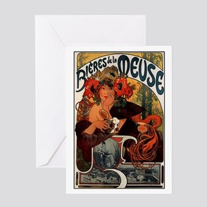Bieres de la Meuse Greeting Card