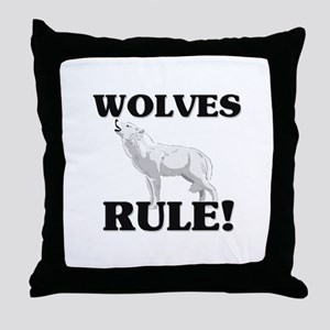 Wolves Rule! Throw Pillow