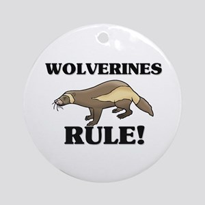 Wolverines Rule! Ornament (Round)